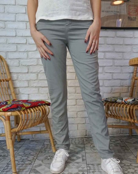 Trouser Olaz, staight cut, in 100% Lyocell and recycled coton