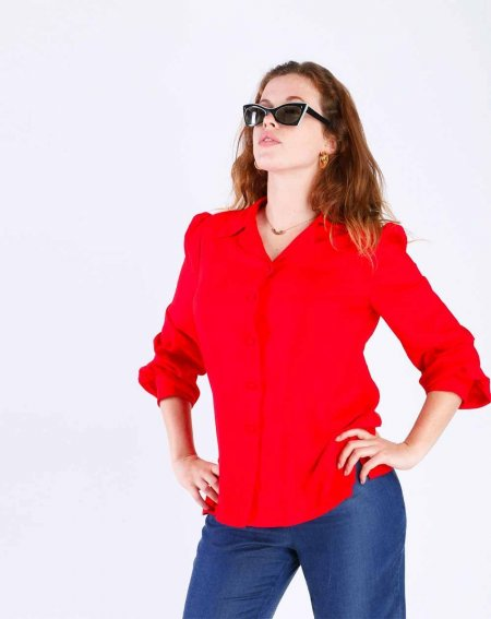 Blouse Zinty Viscose rouge